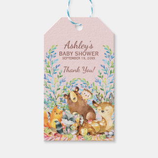 Woodland Animals Baby Shower Favor Gift Tag