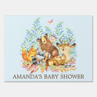 Woodland Animals Baby Shower Yard Sign