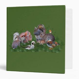 Woodland Animals Binder