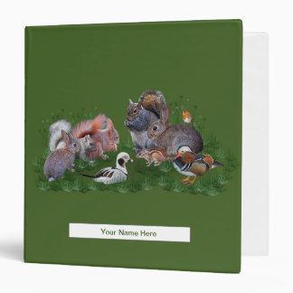 Woodland Animals Binder (Enter Your Name)