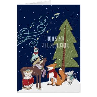 Woodland Animals Christmas Card