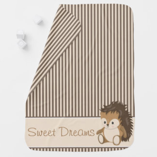 Woodland Animals Hedgehog | Personalized Stroller Blankets