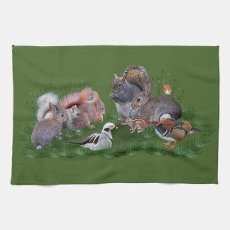 Woodland Animals Kitchen Towel