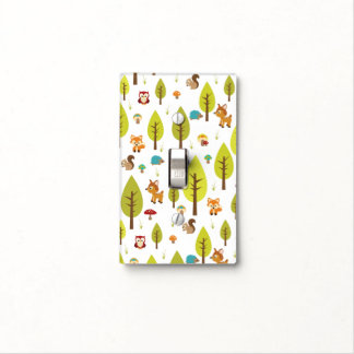 Woodland Animals Light Switch Cover