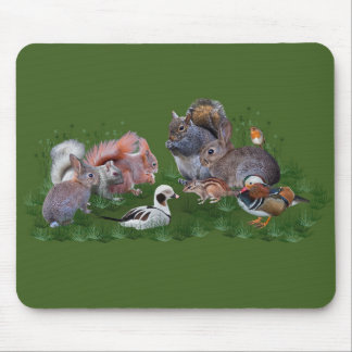 Woodland Animals Mousemat Mouse Pad