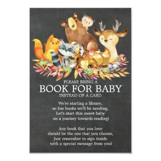 Woodland Animals Neutral Baby Shower Book for Baby Card