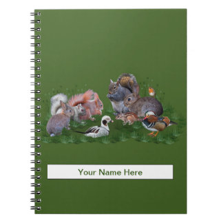 Woodland Animals Notebook (Enter Your Name)