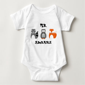 Woodland Animals Personalized Infant Onsie Baby Bodysuit