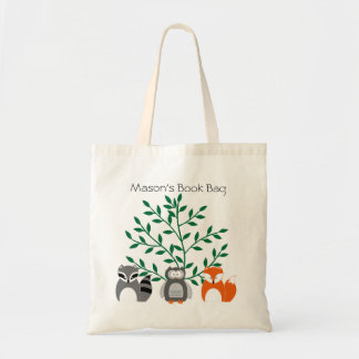 Woodland Animals Personalized Tote Bag