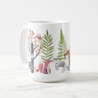 Woodland Animals Trees Greenery Forest 15 oz. Mugs