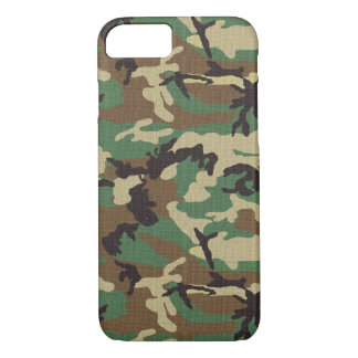 Woodland Army Camo iPhone 7 Barely There Case