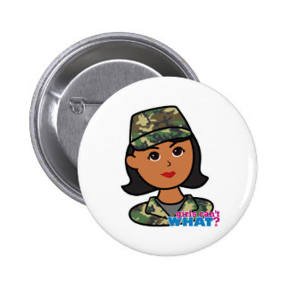 Woodland Army Camouflage Pinback Button