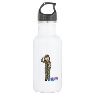 Woodland Army Camouflage Girl 18oz Water Bottle