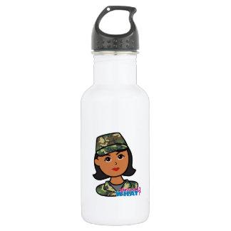Woodland Army Camouflage 18oz Water Bottle