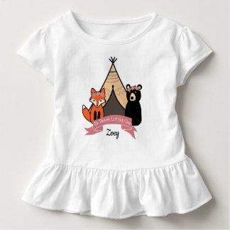 Woodland Baby Girl Tutu Toddler T-shirt