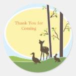 Woodland Baby Shower Favour Sticker