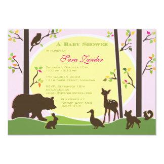 Woodland Baby Shower Invitation | Girl