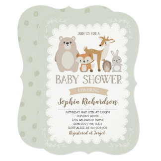 Woodland Baby Shower Invitation Whimsical Shower
