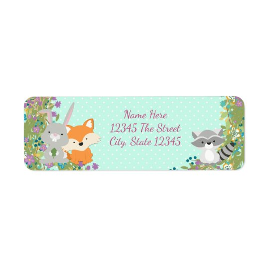 Woodland Baby Shower Return Address Labels