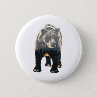 Woodland Bear 2 Inch Round Button