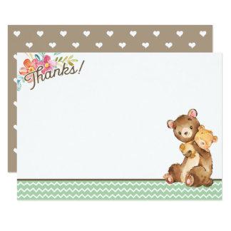 Woodland Bear Baby Shower Thank You Card