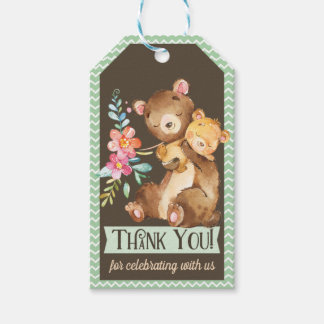Woodland Bear Baby Shower Thank You Gift Tag