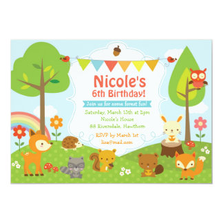Woodland Birthday Invitation / Woodland Invitation