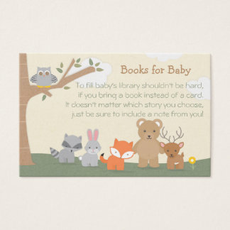"Woodland ""Books for Baby"" Business Card"
