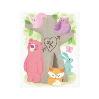 Woodland Buddies, Custom Children's Canvas Art