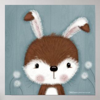 Woodland Bunny Portrait Poster
