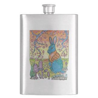 Woodland Bunny Rabbit Hip Flask