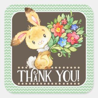Woodland Bunny Thank You Sticker