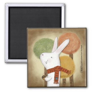 Woodland Bunny with Acorn Magnet