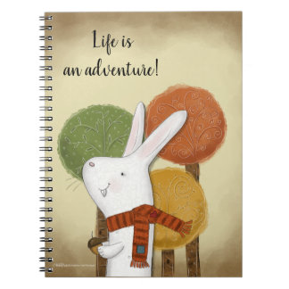 Woodland Bunny with Acorn Notebook