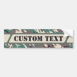 Woodland Camo Bumper Sticker