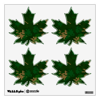 Woodland Camo Custom Wall Decal Art