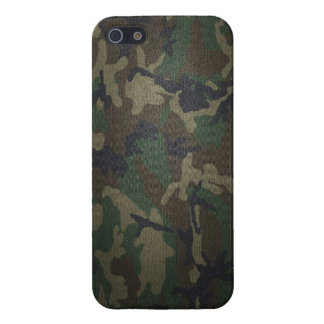 Woodland Camo Fabric Cover For iPhone 5/5S