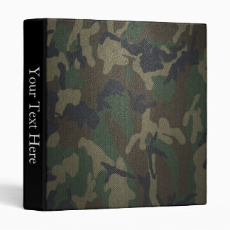 Woodland Camo Fabric Vinyl Binder