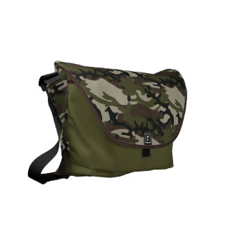 Woodland Camo Military Pattern Courier Bag