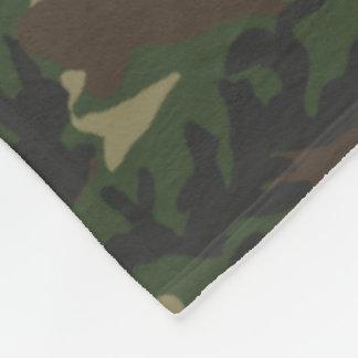 Woodland Camo Pattern Fleece Blanket