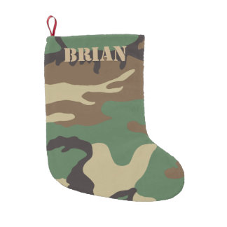 Woodland Camo | Personalized Christmas Small Christmas Stocking