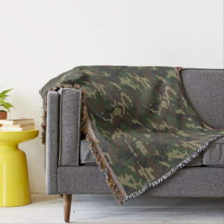 Woodland Camo Throw Blanket