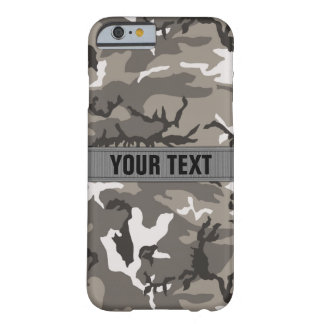 Woodland Camo Urban Gray Personalized Barely There iPhone 6 Case