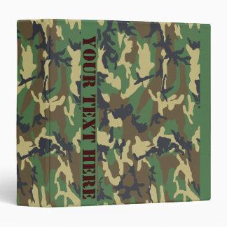 Woodland Camo Vinyl Binder