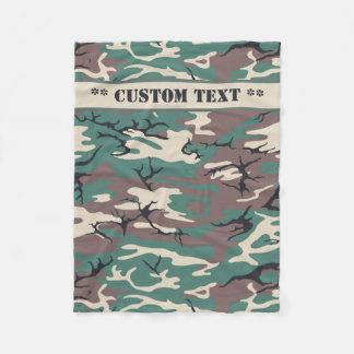Woodland Camo w/ Custom Text Fleece Blanket