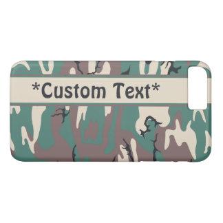 Woodland Camo w/ Custom Text iPhone 7 Plus Case