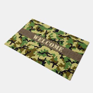 Woodland camouflage doormat