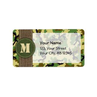Woodland camouflage label