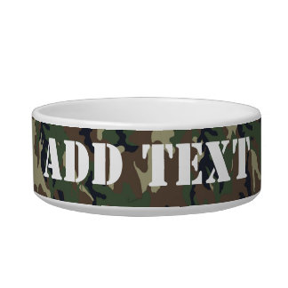 Woodland Camouflage Military Background Bowl
