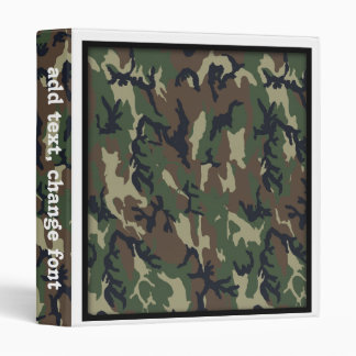 Woodland Camouflage Military Background Vinyl Binders